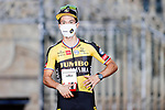 Primoz Roglic (SLO) Jumbo-Visma wins Stage 21 and La Vuelta d'Espana 2021, an individual time trial running 33.8km from Padron to Santiago de Compostela, Spain. 5th September 2021.    <br /> Picture: Luis Angel Gomez/Photogomezsport | Cyclefile<br /> <br /> All photos usage must carry mandatory copyright credit (© Cyclefile | Luis Angel Gomez/Photogomezsport)
