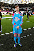 Pictured: Children mascots Saturday 10 January 2015<br /> Re: Barclays Premier League, Swansea City FC v West Ham United at the Liberty Stadium, south Wales, UK