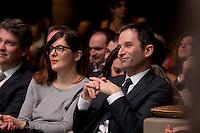 Valerie Donzelli, Benoit Hamon investiture de BenoÓt Hamon a la presidentielle du Parti Socialiste (PS) a la mutualitÈ de Paris, le dimanche 5 fÈvrier 2017