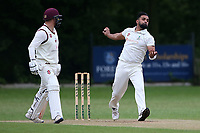 Z Shahzad in bowling action for Wanstead during Wanstead and Snaresbrook CC (fielding) vs Brentwood CC, Hamro Foundation Essex League Cricket at Overton Drive on 19th June 2021