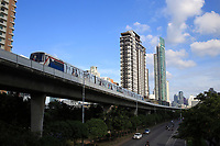 skytrain<br /> , Bangkok, Thailand in December 2016 after the King's death