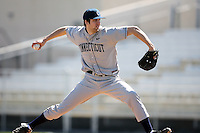 February 20, 2009:  Pitcher Trent DeLazzer (45) of the University of Connecticut during the Big East-Big Ten Challenge at Jack Russell Stadium in Clearwater, FL.  Photo by:  Mike Janes/Four Seam Images
