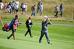 ISPS Handa Wales Open Golf final day at the Celtic Manor Resort in Newport, UK. :  Francesco Molinari if Italy walks down the 18th fairway.