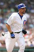 Mark DeRosa of the Chicago Cubs vs. the San Diego Padres: June 18th, 2007 at Wrigley Field in Chicago, IL.  Photo copyright Mike Janes Photography 2007.