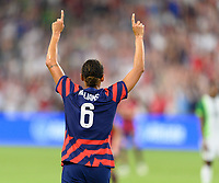 AUSTIN, TX - JUNE 16: Lynn Williams #6 of the United States celebrates her goal in the second half during a game between Nigeria and USWNT at Q2 Stadium on June 16, 2021 in Austin, Texas.