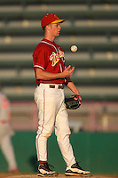 March 7 2010: Richard Stock of USC during game against University of New Mexico at Dedeaux Field in Los Angeles,CA.  Photo by Larry Goren/Four Seam Images