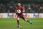 Mohamed Salah of AS Roma fights for the ball during the match Villarreal CF vs AS Roma, part of the UEFA Europa League 2016-17 Round of 32 at the Estadio de la Cerámica on 16 February 2017 in Villarreal, Spain. Photo by Maria Jose Segovia Carmona / Power Sport Images