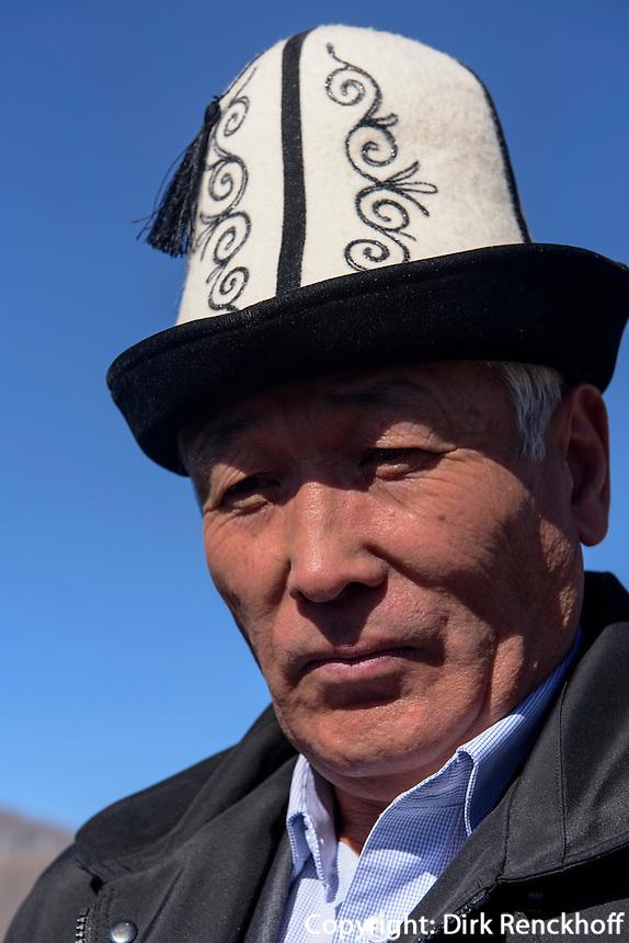 Mann mit Filzhut, Kirgistan, Asien<br /> man with Felthat, Kirgistan, Asia