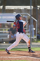 Mason Strong (30) during the WWBA World Championship at the Roger Dean Complex on October 10, 2019 in Jupiter, Florida.  Mason Strong attends Snow Canyon High School in Santa Clara, UT and is committed to Brigham Young.  (Mike Janes/Four Seam Images)