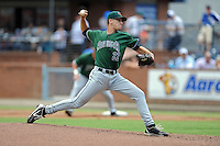 Augusta GreenJackets starting pitcher Chris Stratton #22 delivers a pitch during a game against the Asheville Tourists at McCormick Field on June 30, 2013 in Asheville, North Carolina. The GreenJackets won the game 9-7. (Tony Farlow/Four Seam Images)