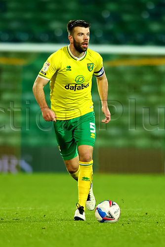 3rd November 2020; Carrow Road, Norwich, Norfolk, England, English Football League Championship Football, Norwich versus Millwall; Grant Hanley of Norwich City