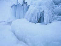 Frozen Waterfall, Oberaegeri, Zug, Switzerland, Europe