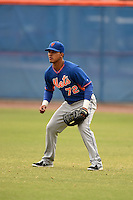 New York Mets outfielder Victor Cruzado (72) during a minor league spring training game against the St. Louis Cardinals on March 27, 2014 at the Port St. Lucie Training Complex in Port St. Lucie, Florida.  (Mike Janes/Four Seam Images)