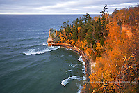 Miner's Castle in Autumn, Pictured Rocks