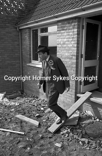 """""""Thorpe works for us."""" Jeremy Thorpe on the election campaign trail mid Devon constituency 1979"""
