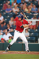 Fort Myers Miracle third baseman Logan Wade (4) at bat during a game against the Daytona Tortugas on June 17, 2015 at Hammond Stadium in Fort Myers, Florida.  Fort Myers defeated Daytona 9-5.  (Mike Janes/Four Seam Images)