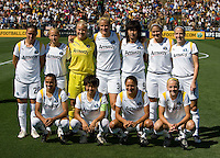 24 May 2009: Los Angeles Sol Starting XI pose together for group photo before the game against FC Gold Pride at Buck Shaw Stadium in Santa Clara, California.  Los Angeles Sol defeated FC Gold Pride, 2-0.