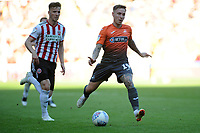 Sheffield United's Lee Evans vies for possession with Swansea City's Barrie McKay during the Sky Bet Championship match between Sheffield United and Swansea City at Bramall Lane, Sheffield, England, UK. Saturday 04 August 2018