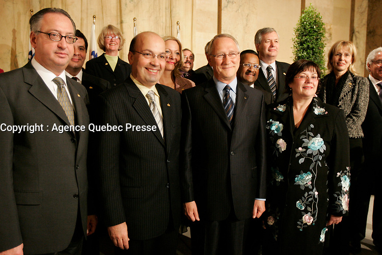 Claude Dauphin, Frank Zampino et gerald Tremblay, 2005<br /> <br /> PHOTO : Agence Quebec Presse