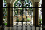 Gated courtyard in the Parione district of Rome.