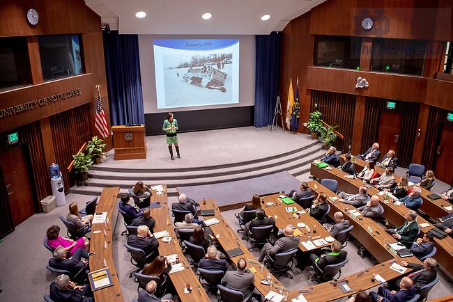 April 19, 2018; Haley Scott DeMaria '95 gives the keynote address at the 2018 Alumni Association Leadership Conference. (Photo by Matt Cashore/University of Notre Dame)