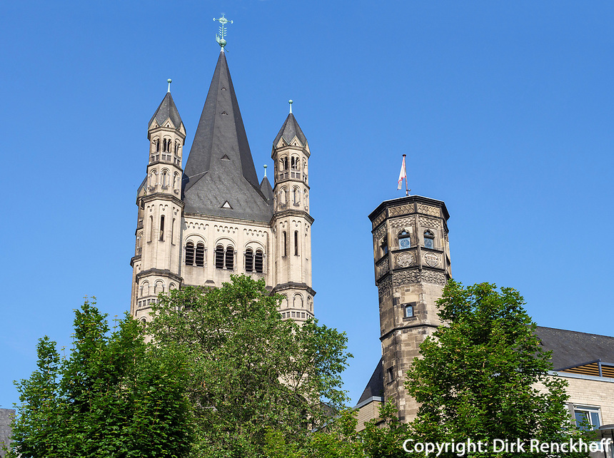 Kirche Groß St. Martin, Köln, Nordrhein-Westfalen, Deutschland, Europa<br /> Church Groß St. Martin, Cologne, North Rhine-Westphalian, Germany, Europe