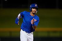 AZL Cubs 1 Yovanny Cuevas (24) runs to third base during an Arizona League game against the AZL Padres 1 on July 5, 2019 at Sloan Park in Mesa, Arizona. The AZL Cubs 1 defeated the AZL Padres 1 9-3. (Zachary Lucy/Four Seam Images)