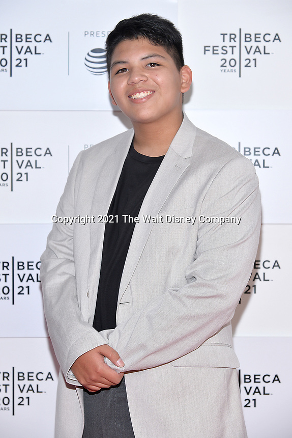 """New York CITY - JUNE 15: Lane Factor attends the Tribeca Festival screening of FX's """"Reservation Dogs"""" on June 15, 2021 in New York City. (Photo by Anthony Behar/FX/PictureGroup)"""