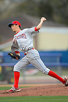 Clearwater Threshers pitcher Hoby Milner #37 during a game against the Dunedin Blue Jays at Florida Auto Exchange Stadium on April 4, 2013 in Dunedin, Florida.  Dunedin defeated Clearwater 4-2.  (Mike Janes/Four Seam Images)