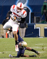 November 08, 2008: Louisville wide receiver Chris Vaughn. The Pitt Panthers defeated the Louisville Cardinals 41-7 on November 08, 2008 at Heinz Field, Pittsburgh, Pennsylvania.