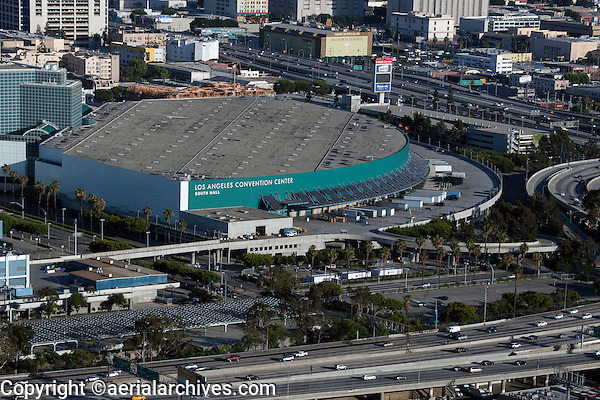 aerial photograph Los Angeles Convention Center, Los Angeles, California