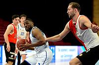 06-03-2021: Basketbal: Donar Groningen v ZZ Feyenoord: Groningen Donar speler Jarred Ogungbemi-Jackson met Feyenoord speler Jeroen van der List