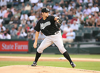 Josh Johnson of the Florida Marlins vs. the Chicago White Sox: June 19th, 2007 at U.S. Cellular Field in Chicago, IL.  Photo by Mike Janes/Four Seam Images