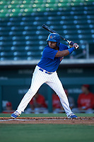AZL Cubs 1 Ervis Marchan (21) at bat during an Arizona League game against the AZL Angels on June 24, 2019 at Sloan Park in Mesa, Arizona. AZL Cubs 1 defeated the AZL Angels 12-0. (Zachary Lucy / Four Seam Images)