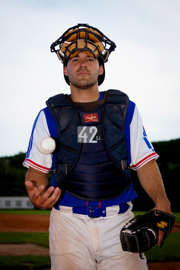 22 June 2011: Vincent Ferreira of Team France poses prior to AIST Alumni 5-3 win over France, at the 2011 Prague Baseball Week, in Prague, Czech Republic.