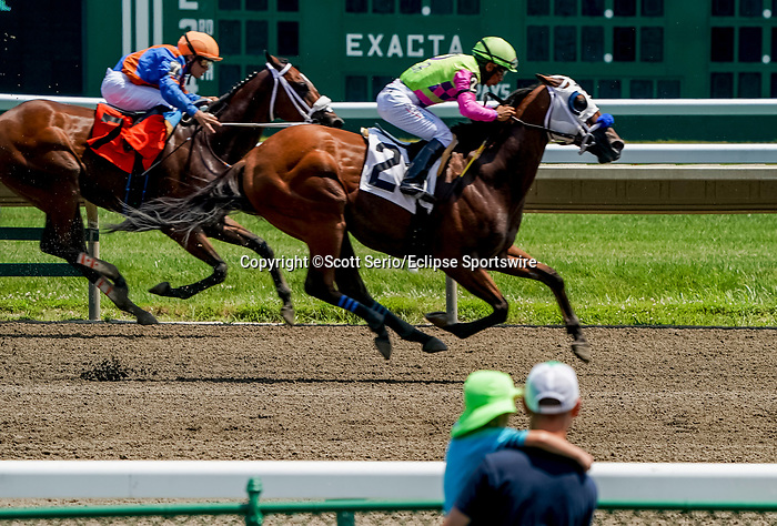 July 17, 2021: Scenes from around the track on Haskell Invitational Day at Monmouth Park Race Course in Oceanport, New Jersey. Scott Serio/Eclipse Sportswire/CSM