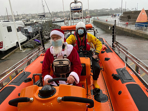 Santa on board Bangor RNLI Lifeboat