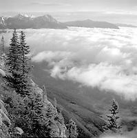 Ocean of clouds seen from Jasper Palisade, Jasper National<br /> <br /> Photograph by Joe Weiss
