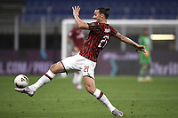 Zlatan Ibrahimovic of AC Milan in action during the Serie A football match between AC Milan and Bologna FC at stadio Giuseppe Meazza in Milano ( Italy ), July 18th, 2020. Play resumes behind closed doors following the outbreak of the coronavirus disease. <br /> Photo Image Sport / Insidefoto