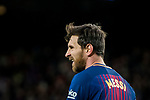 Lionel Andres Messi of FC Barcelona looks on during the La Liga 2017-18 match between FC Barcelona and Levante UD at Camp Nou on 07 January 2018 in Barcelona, Spain. Photo by Vicens Gimenez / Power Sport Images