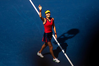8th September 2021; New York, USA;  Emma Raducanu of the Great Britain celebrates after winning for womens singles quarterfinals of the 2021 US Open against Belinda Bencic of Switzerland in New York