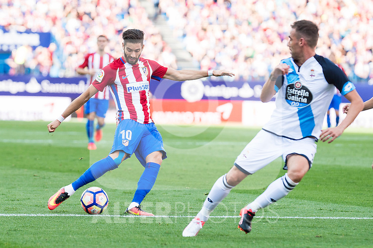 Atletico de Madrid's player Yannick Carrasco during a match of La Liga Santander at Vicente Calderon Stadium in Madrid. September 25, Spain. 2016. (ALTERPHOTOS/BorjaB.Hojas)