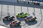 NASCAR Camping World Truck Series<br /> Bar Harbor 200<br /> Dover International Speedway, Dover, DE USA<br /> Friday 2 June 2017<br /> Christopher Bell, JBL Toyota Tundra, Matt Crafton, Ideal Door / Menards Toyota Tundra, Grant Enfinger, Ride TV Toyota Tundra, Ross Chastain, Delaware Office of Highway Safety / Protect your Melon Chevrolet Silverado<br /> World Copyright: Logan Whitton<br /> LAT Images<br /> ref: Digital Image 17DOV1LW2131