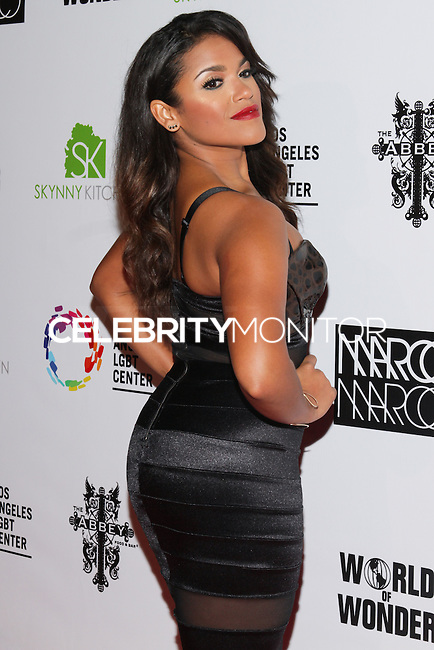 LOS ANGELES, CA, USA - OCTOBER 14: Vivian Lamolli arrives at the Marco Marco: Collection Three 2015 Runway Presentation held at the Viviana Cathedral on October 14, 2014 in Los Angeles, California, United States. (Photo by Rudy Torres/Celebrity Monitor)