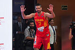 Juan Carlos Navarro during the official presentation of Spain´s basketball team for the 2014 Spain Basketball Championship in Madrid, Spain. July 24, 2014. (ALTERPHOTOS/Victor Blanco)