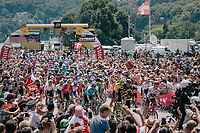 race start in Annecy<br /> <br /> Stage 10: Annecy > Le Grand-Bornand (159km)<br /> <br /> 105th Tour de France 2018<br /> ©kramon