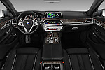 Stock photo of straight dashboard view of 2016 BMW 7 Series M Sport 4 Door Sedan Dashboard