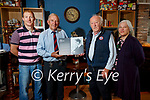 Andrew Curtayne presenting a plaque commemorating the birthplace of his mother the author Alice Curtayne to Der O'Sullivan, owner of Benners Hotel also in photo are Brian O'Sullivan and Rowena Curtayne.