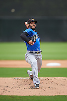 Akron RubberDucks starting pitcher Shawn Morimando (32) during the first game of a doubleheader against the Bowie Baysox on June 5, 2016 at Prince George's Stadium in Bowie, Maryland.  Bowie defeated Akron 6-0.  (Mike Janes/Four Seam Images)