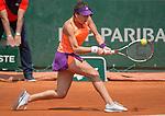 Sorana Cirstea (ROU) loses to Jelena Jankovic (SRB)  6-1, 6-2 at  Roland Garros being played at Stade Roland Garros in Paris, France on May 31, 2014